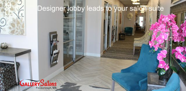 Gallery Salons – Designer lobby leads to your salon suite